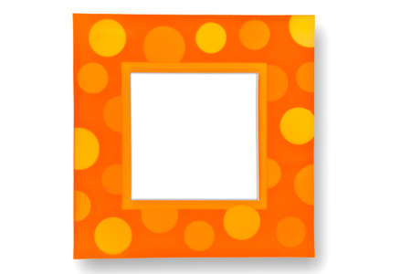 Colorful bokeh picture frame photo
