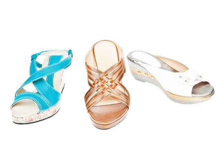shoe shelf: Group of  Womans shoes