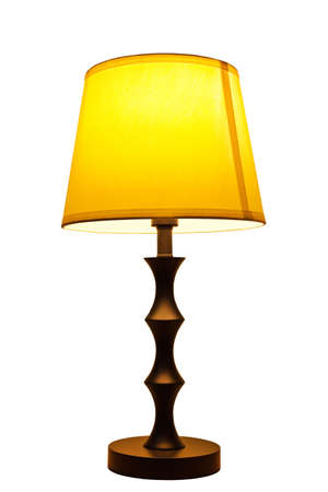 night table: Old fashion table lamp isolated