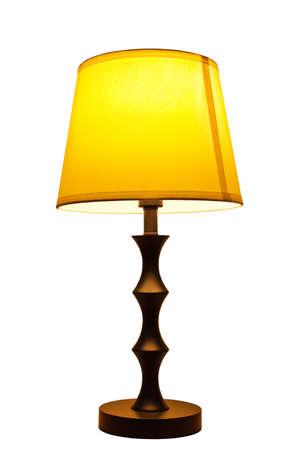 Ouderwetse geïsoleerd tafellamp