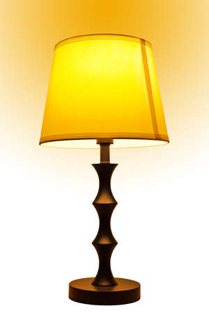 lamp shade: Old fashion table lamp isolated