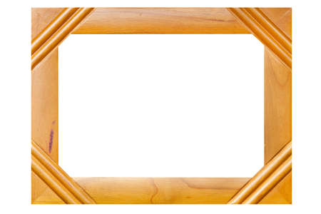 Isolated wood picture photo frame photo