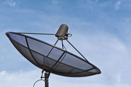 Technology, Satellite dish and blue sky Stock Photo - 10286634