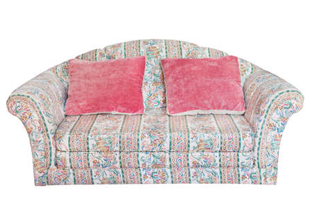 Furniture, Nice and luxury armchair and pillow photo