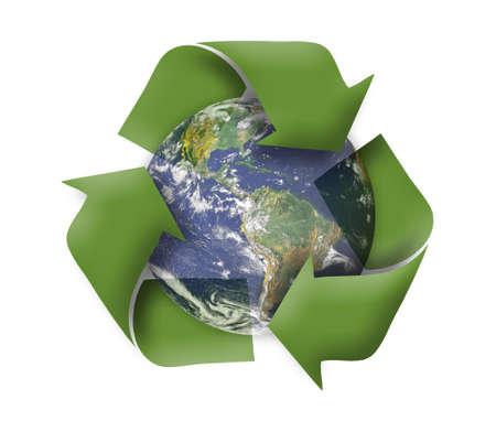 ecosistema: Verde tierra, reciclar, concepto