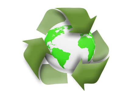 medio ambiente: Verde tierra, reciclar, concepto
