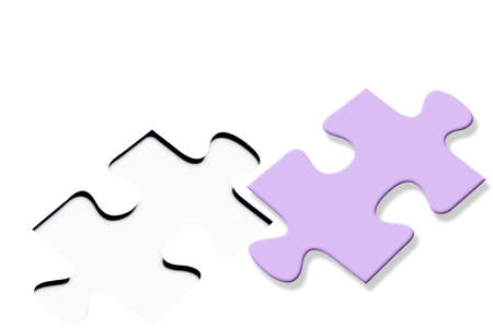 difficult mission: Colorful jigsaw puzzle Stock Photo