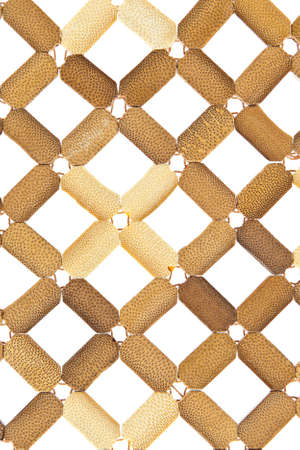 Plate mat, texture plastic wicker isolated on white photo