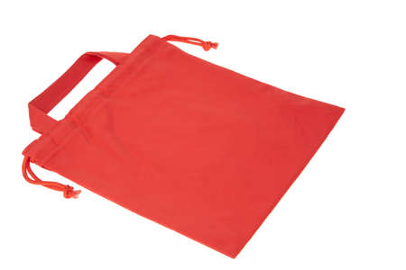 Colorful red cotton bag photo