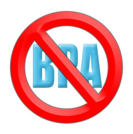 ビスフェノール A (BPA) アンチ署名のロゴ 写真素材