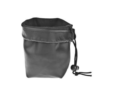 Bag, leather black pouch isolated on white background Stock Photo - 10794005