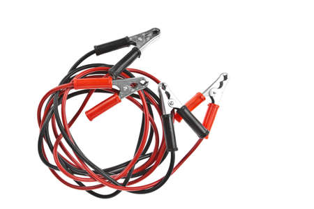 Jumper cable isolated on white background photo