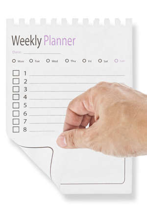page of weekly calendar Stock Photo - 10795200