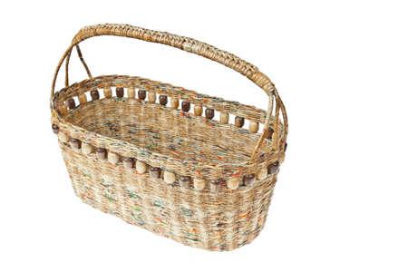 interleaved: basket made from newspaper
