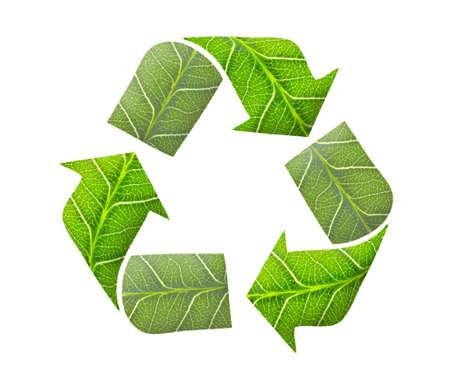 Recycler le concept de logo, vert Banque d'images - 10794889