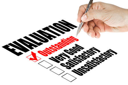 evaluation quality survey Stock Photo