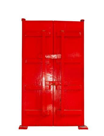 door casing: single red door