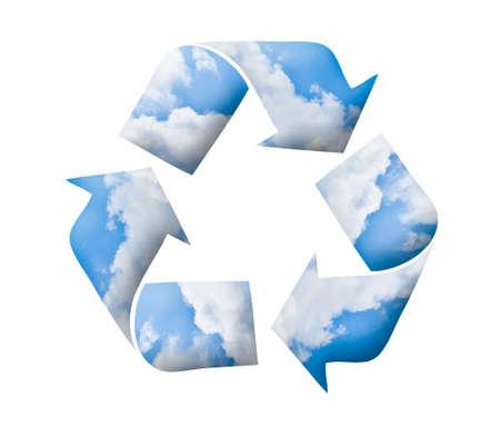 Logotipo de reciclaje, el concepto verde Foto de archivo - 10795443