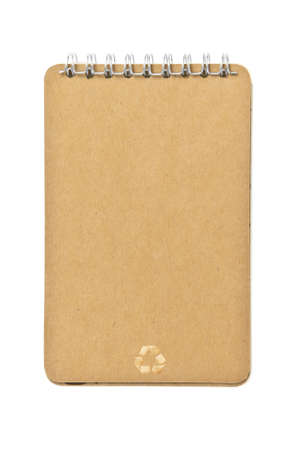 brown color Cover Note Book recycle photo