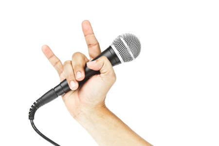 Microphone for Karaoke and hand Stock Photo - 10796321