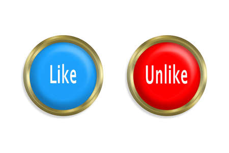 Like button and red on white background Stock Photo - 11262878