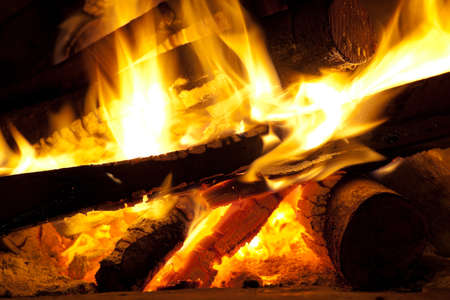 Bonfire in chimney