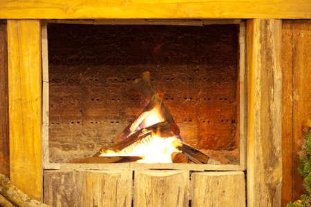 Bonfire in chimney Stock Photo - 11769502