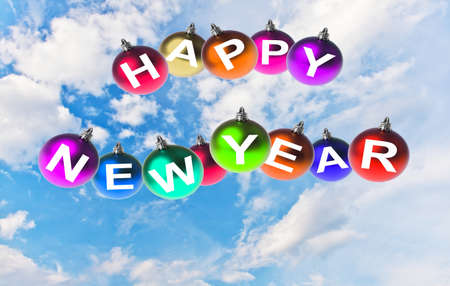Happy new year, Christmas decoration background photo