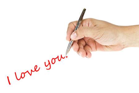 """scrittura a mano umana """"i love you"""" parola"""