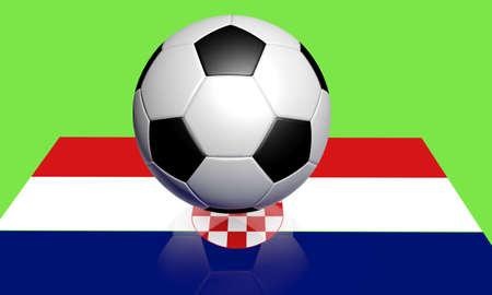 bandiera croazia: Euro 2012 di calcio e croazia bandiera Archivio Fotografico