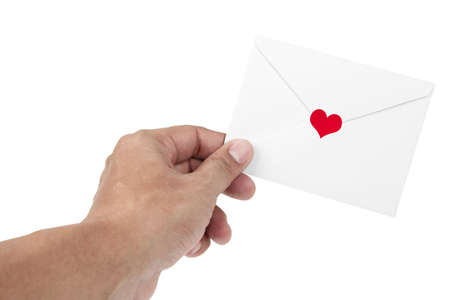 human hand and love letter photo
