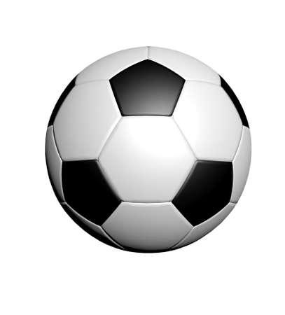 pelota de futbol: Bal�n de f�tbol sobre fondo blanco
