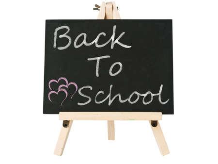 blackboard with back to school word photo