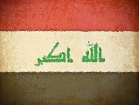 iraq flag: old grunge paper with Iraq flag background