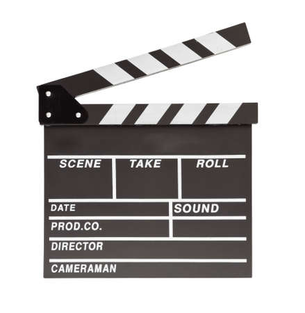 film clapper  board with space photo