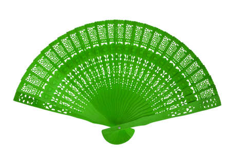 Wooden green fan photo