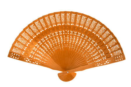 Wooden orange fan photo