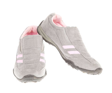 Sport shoes on white background photo