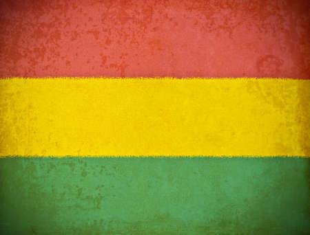bandera de bolivia: papel viejo del grunge con fondo de la bandera Bolivia