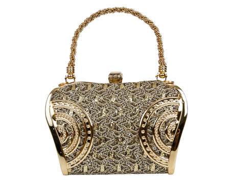 Golden clutch bag photo