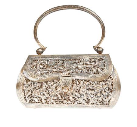 designer bag: Bolsa de embrague de Oro