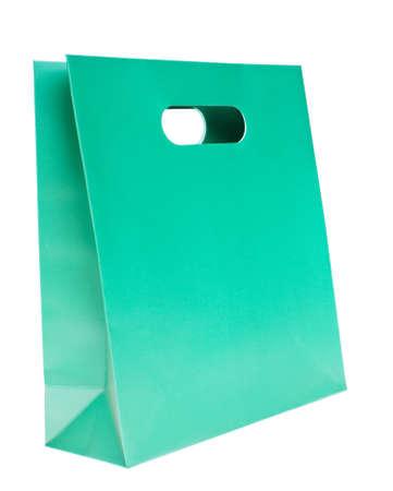 shopping bag, green color photo