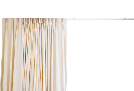 curtain with rail on white background Stock Photo - 13550719