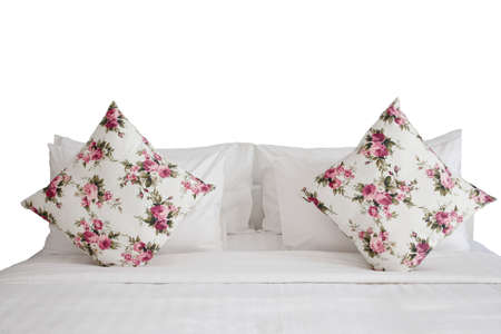white bedroom and pillow photo