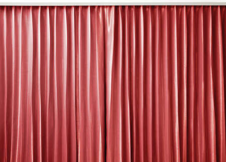 curtain red color Stock Photo - 13816728