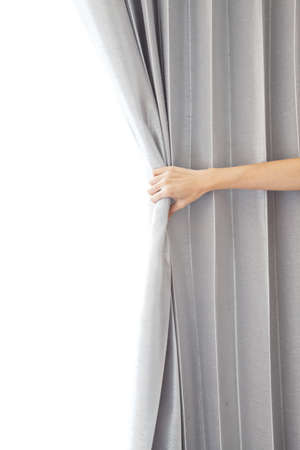 viewers: Opening the curtain and hand