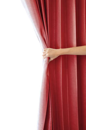 curtain theatre: Opening the curtain and hand