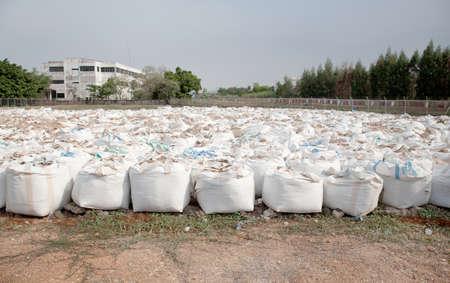 mineralized: big sandbags for Flood protection