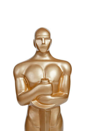 academy: award statue on white background