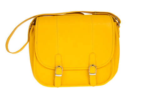 Yellow women bag isolated on white background Stock Photo - 14764665